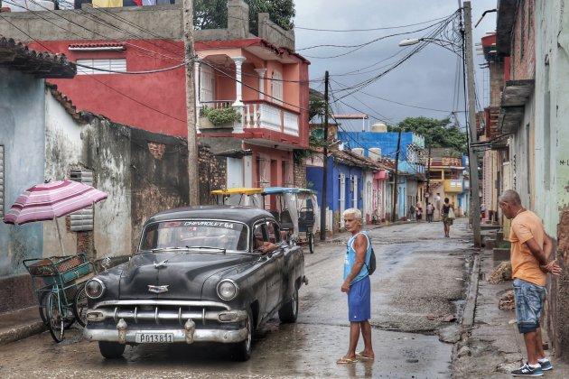 In de regenachtige straten van Trinidad