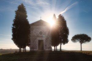 Magisch kapel in Toscane