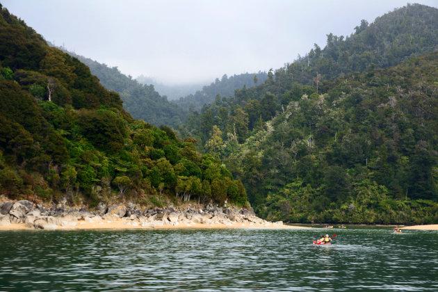 Zeekajakken in het Abel Tasman Nationaal Park