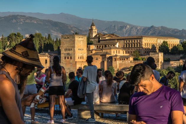 Uitzicht op het Alhambra: Mirador San Nicolás
