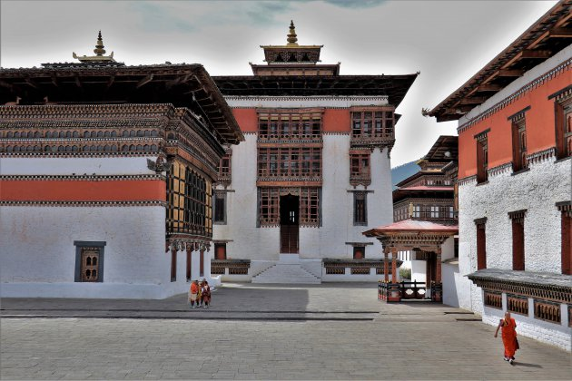Tashichho Dzong en bijgebouwen