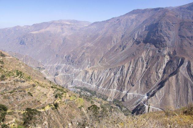 De westkant van de Andes