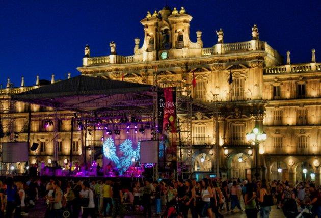 Feest op Plaza Mayor