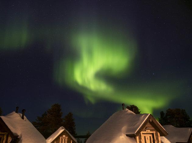 Aurora Borealis vanuit Aurora Cabin