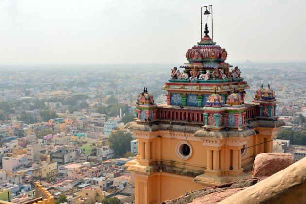 Uitzicht vanaf het Rock Fort tempeltje