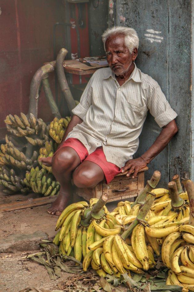 Tussen de bananen