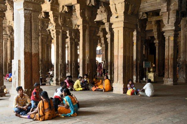 Zuilengalerij in de Srirangam tempel