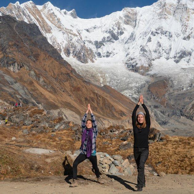 Yoga in Annapurna Base Camp