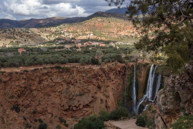 Uitzicht over de omgeving van Ouzoud.
