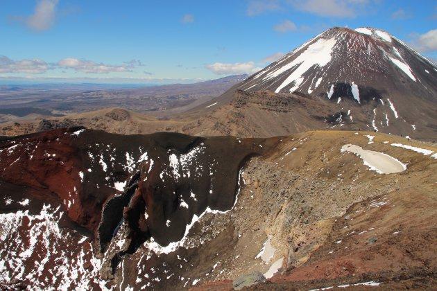 Bijna op de top van de Tongariro Crossing
