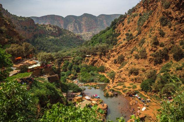 Het uitzicht vanaf de watervallen