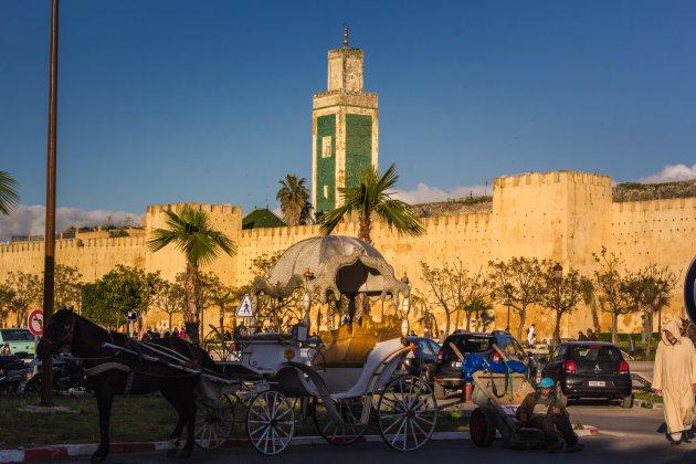 Meknes, bij zonsondergang