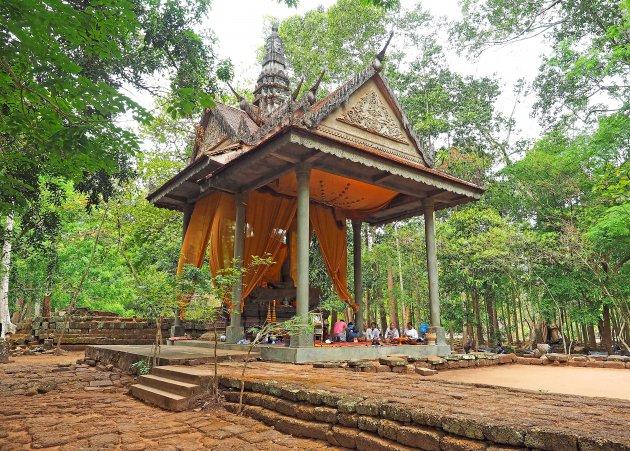 Bij de Bayon tempel