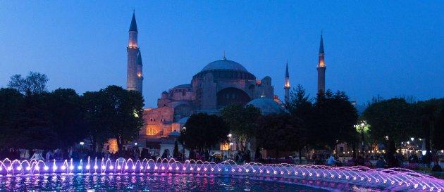 Hagia Sophia by night