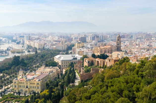 Uitzicht over Malaga