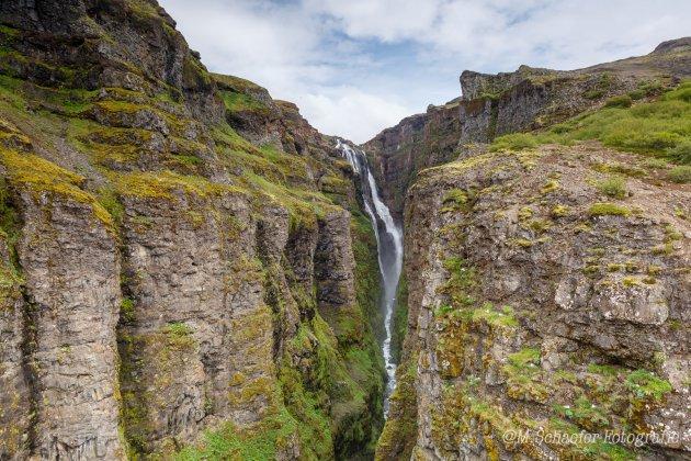 Glymur de op 1 hoogste in IJsland.