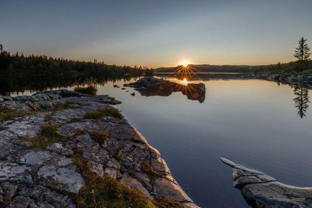Zonsondergang Noorwegen