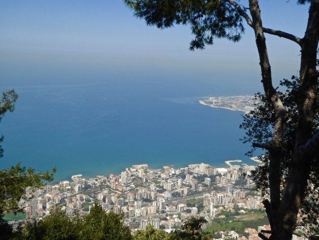 uitzicht op Beiroet