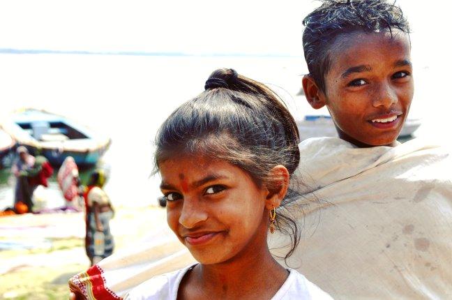aan de oevers van de Ganges