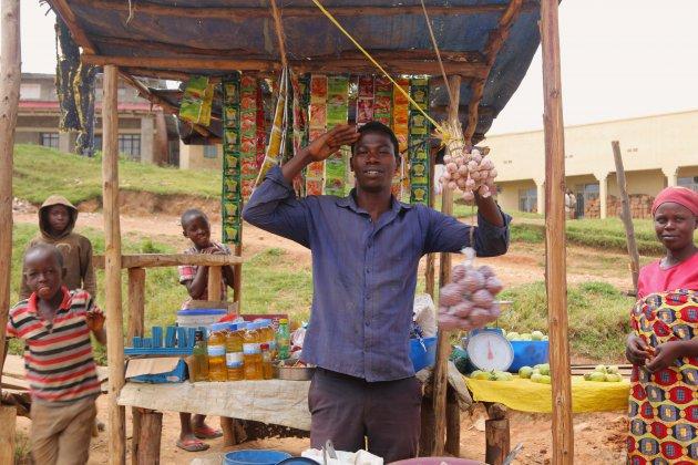 dorpjes langs lake Kivu