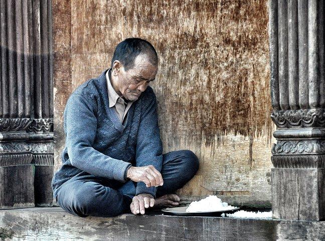 Bezoek het bejaardenhuis in Kathmandu