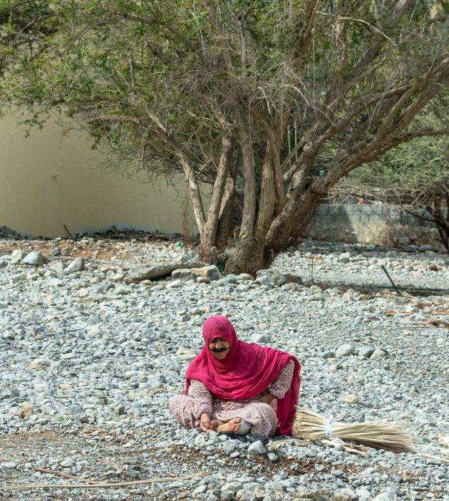 Traditioneel gekleed in Oman