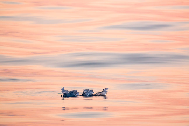 Mini ijsberg op Spitsbergen