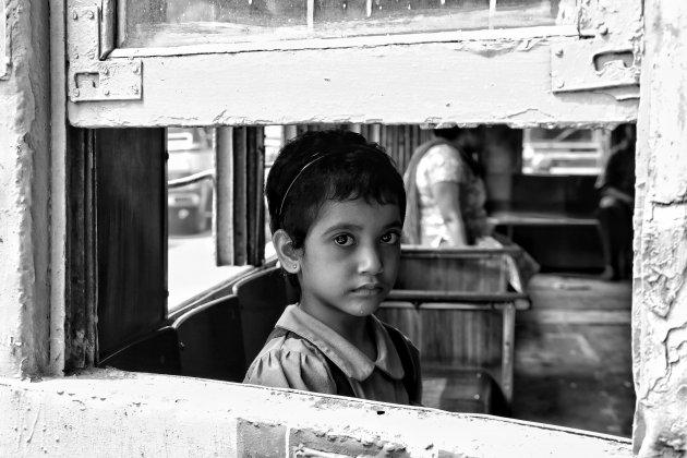 In de oude tram van Kolkata