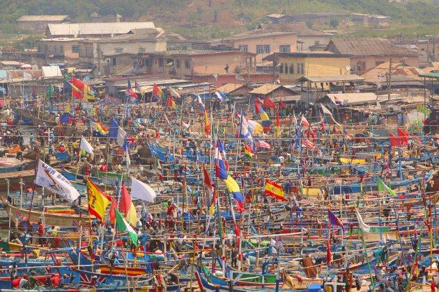uitzicht van af slavenfort Elmina