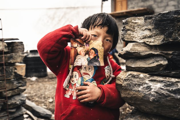 Famili fotos in Tsum valley