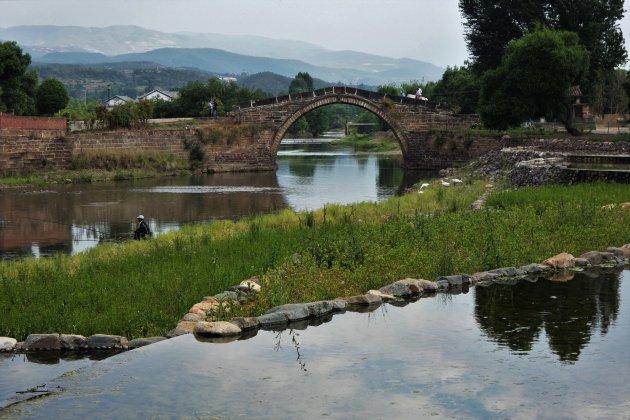 De oude brug in Shaxi