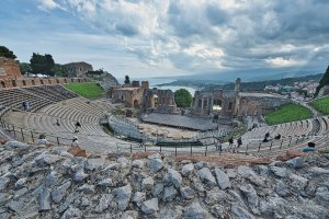 Het Griekse Theater  van Taormina.