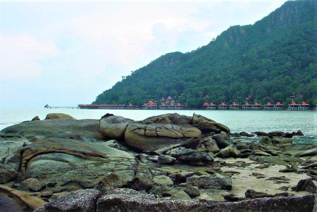 Vakantie huisjes op het water.