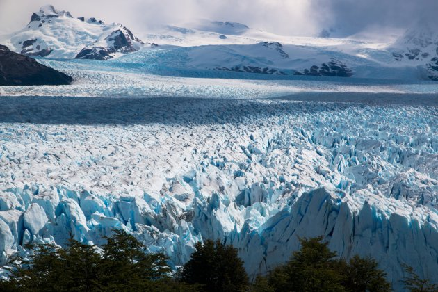 De blauwe ijsvlakte