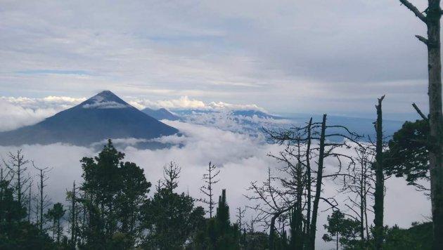 Bovenop Volcan de Acatenango