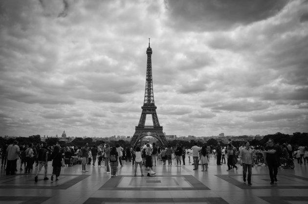 Klassiek beeld van een bekende Wereldstad