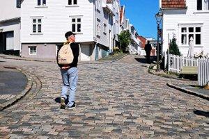 De steile straatjes in Stavanger