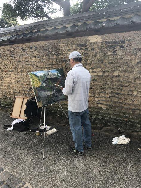 Kunstenaar in Japan