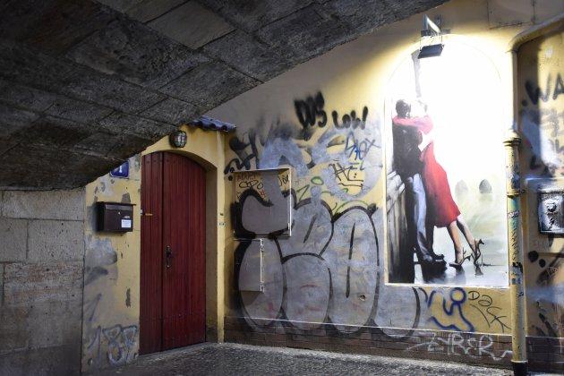 Prachtige graffiti te zien in de Kampa
