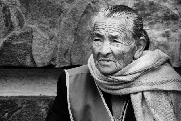 De oude dame in Baños