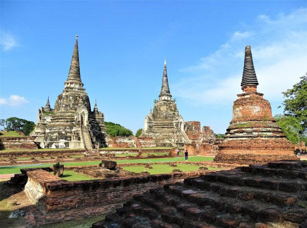 De Chedi's van Wat Phra Si Sanphet.