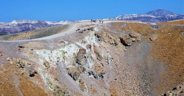 Op vulkaaneiland Nea Kameni
