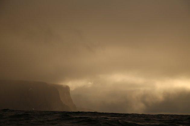 Nord Kapp vanaf de zee