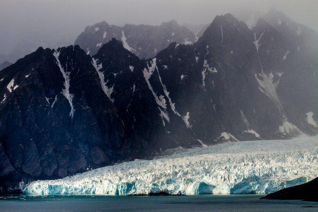 De gletsjers van Spitsbergen