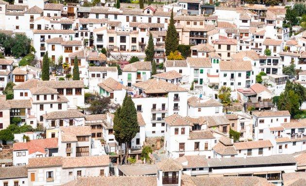 Bekijk Albaicín vanaf het Alhambra