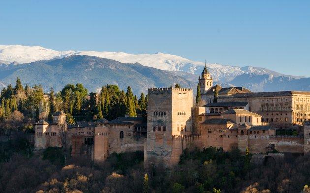 Bekijk het Alhambra vanuit Albaicín