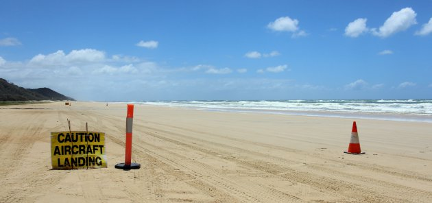 Landingsbaan op het strand