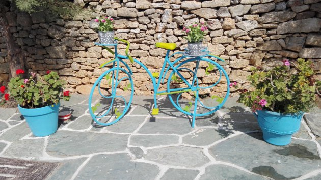 Fietskunst op Folegandros
