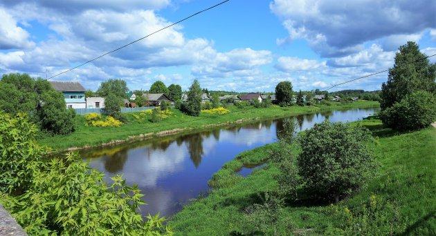 dorp aan de rivier
