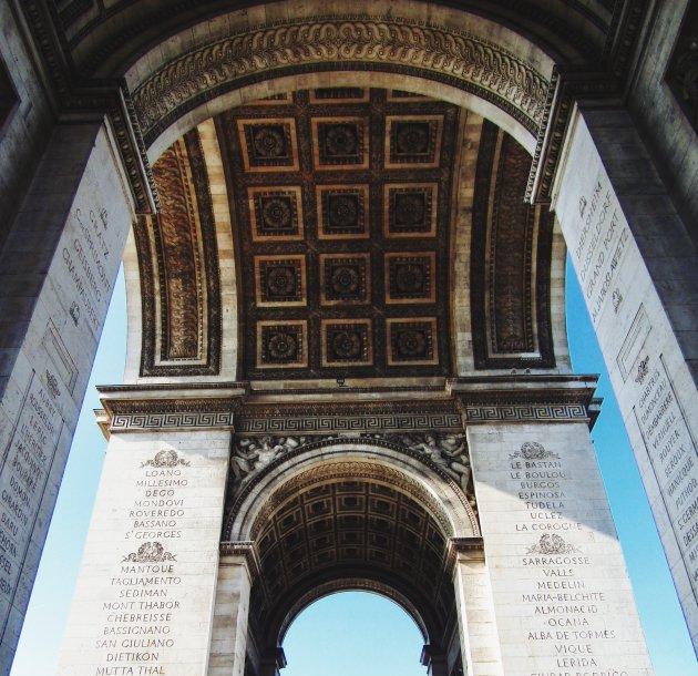 Onderaan de Arc de Triomphe
